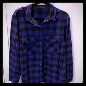 Sanctuary plaid button down size L